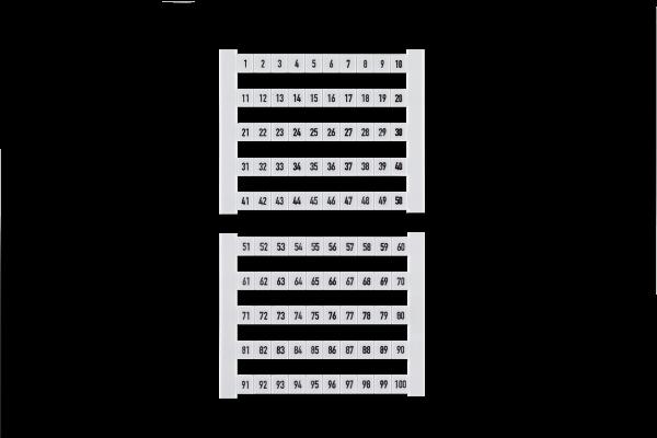 Weidmüller Verbindingsmarkeerder DEK (500 Stuks)